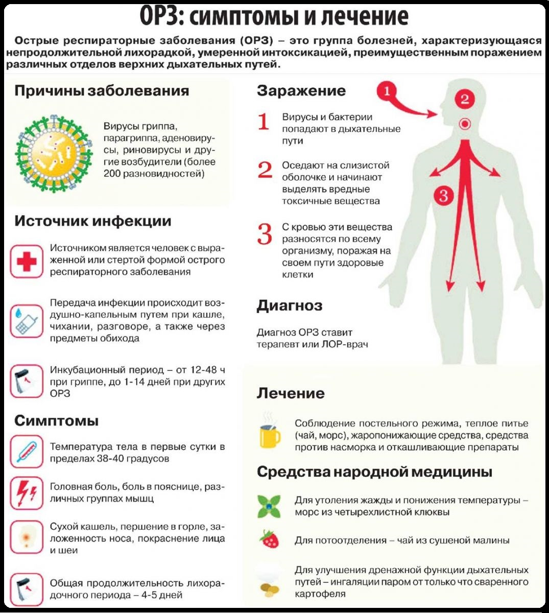 симптомы орз