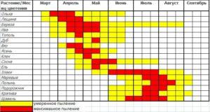 календарь цветения аллергенов