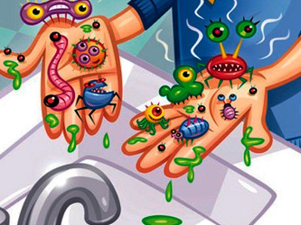 микробы на руках ангина