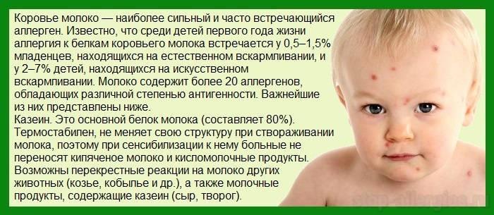 Диета при аллергии на молочку у ребенка