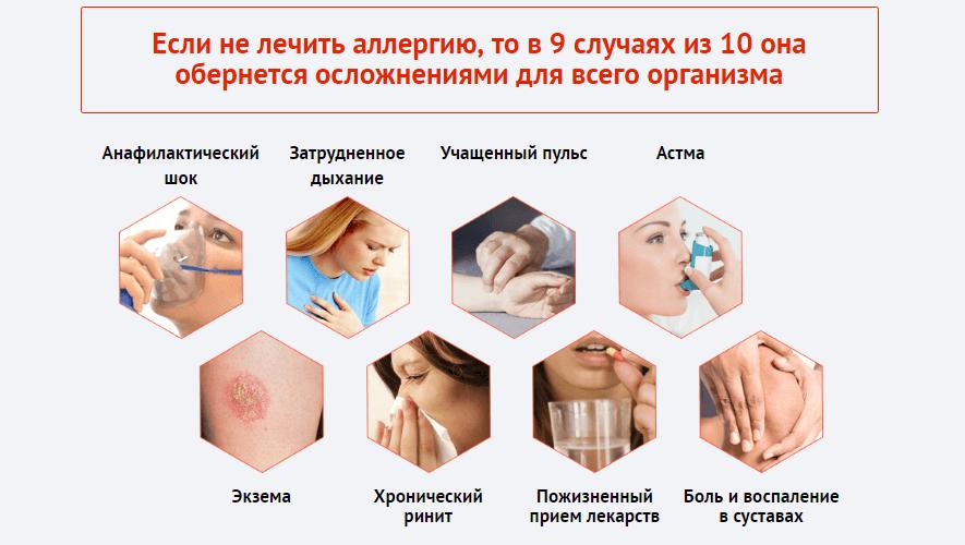 последствия аллергии у ребенка осложнения
