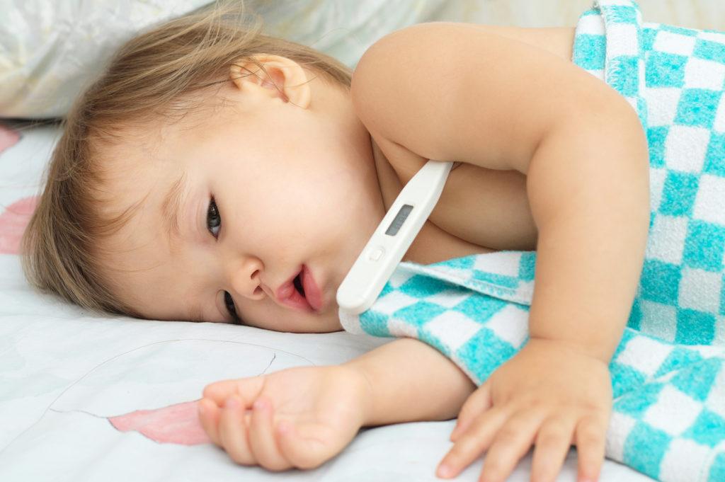 ребенок простуда температура