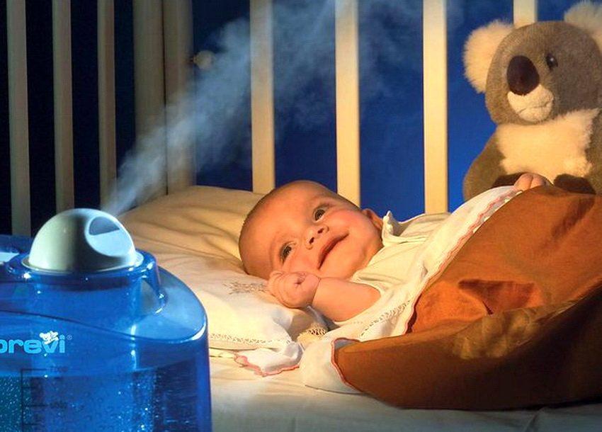 увлажнотель воздуха в детскую комнату при профилактике орви